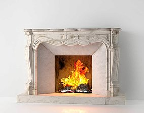 3D model Classic Marble Fireplace 02 other