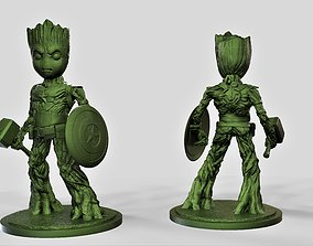 Groot captain america 3D printable model