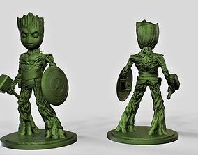 3D print model Groot captain america