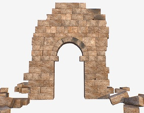 Ruin Volubilis Arc 3D asset