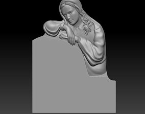 3D model of a monument with a girl 3d