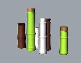 Bamboo seasoning bottle 3D MODEL