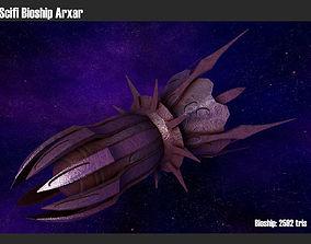 Scifi Bioship Arxar 3D model