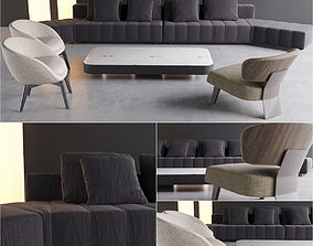 3D model Minotti selection 1