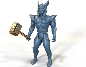 Thor Marvel retro styled action figure custom 3D 1