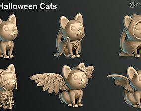 Halloween Cats 3D print model