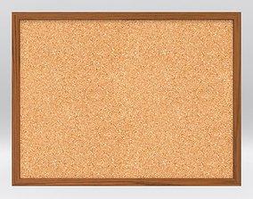 Cork Board with Textures school-equipment 3D model