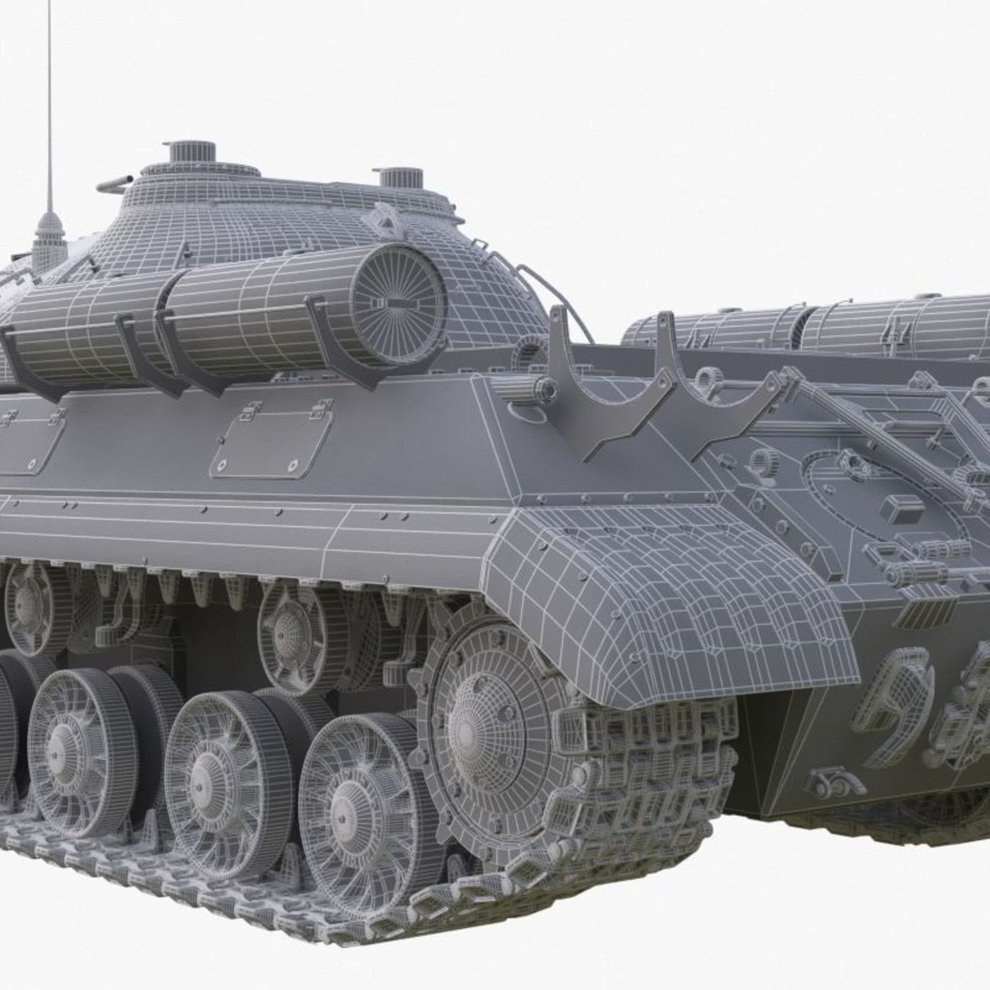 Tank IS 3M Mental Ray 3D model