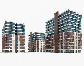Apartment Buildings 01 3D asset