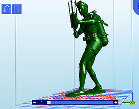 Scuba Man toy soldier with speargun 3D printable model