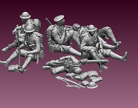 British soldiers ww1 3D print model