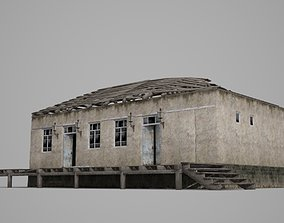3D model The dilapidated cottage of modern architecture