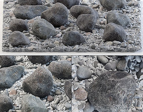3D Square street pebble and stone big n1