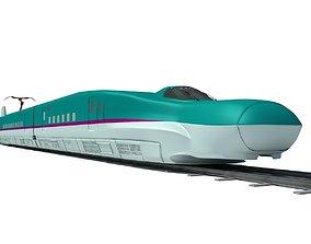 3D Blue High-Speed Train Shinkansen