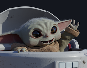 3D animated Baby Yoda