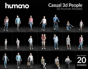 Humano 20-Collection - CASUAL STREET PEOPLE-20x 3D