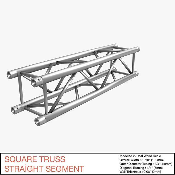 Square Truss Straight Segment 021