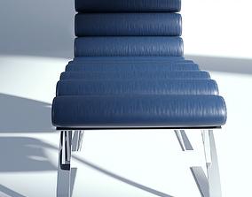 3D Leather Armchair with Ottoman