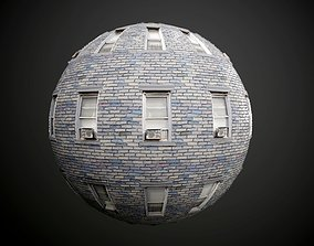 3D Brick Building Seamless PBR Texture