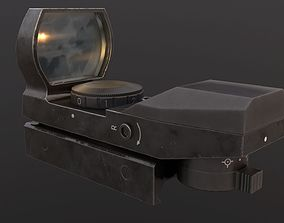 Red dot sight 3D asset low-poly