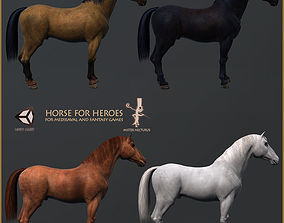 3D 4 Less Muscle Textures For Hero Horse