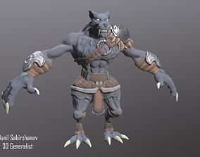 3D asset animated Werewolf