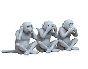 3D printable model monkeys