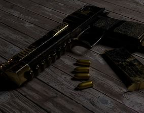 Desert Eagle with The Punisher Skin 3D