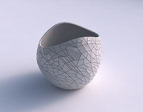 Bowl compressed 3 with chaos plates 3D printable model