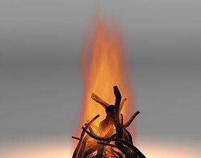 Camp fire 02 3D model