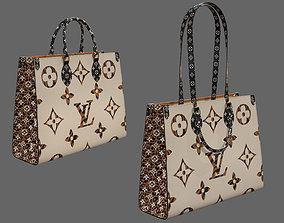 3D asset Louis Vuitton Bag Onthego Giant Monogram Ivory 2