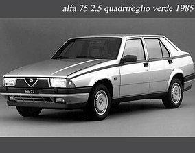 Lavafari Alfa Romeo 75 America quadrifoglio verde 3D model