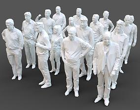16 Stylized Human Statues Pack V9 3D asset