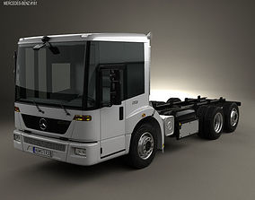 3D Mercedes-Benz Econic Chassis Truck 2009