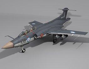 3D model navy Royal Navy Buccaneer Military Aircraft