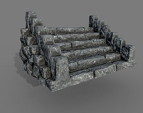 Rock Stairs1 PBR 3D model