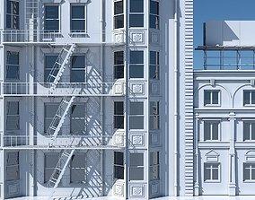 Commercial Building Facade 05 3D model