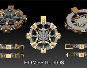 3D printable model PENDANT COMPASS jewelry