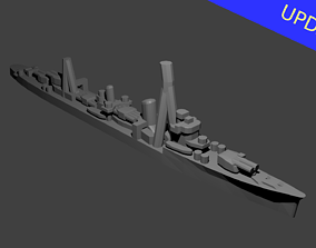 Japanese Kagero Class Destroyer 3D printable model