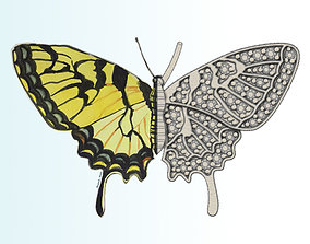 3D printable model Butterfly New Idea Pendant