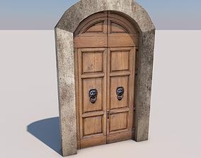 Old Door 3D model game-ready