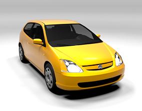HONDA CIVIC 2001 LOWPOLY 3D model