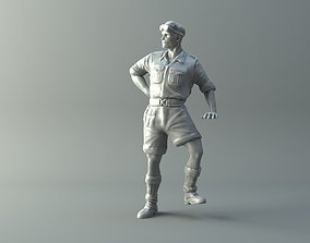 3D printable model Captain miniature II World War
