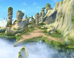 Cartoon Valley Scene 3D model