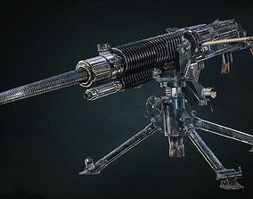 Type 92 Heavy Machine Gun - Game Ready 3D asset