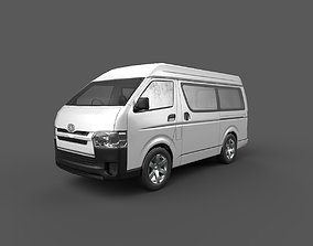 3D asset low-poly Toyota Hiace Passenger Van Low Poly