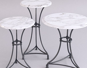 Marble top tables - 3 sizes 3D model