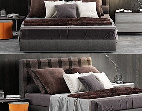 Minotti Powell Bed 121 3D