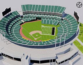3D asset Oakland - Alameda County Coliseum