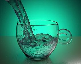 Cup with animated water 3D